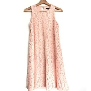 Pink lace daytime party dress